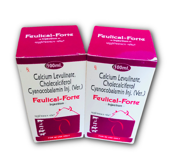 Calcium Levulinate, Cholecalciferol Cynocobalamin Veterinary Injection
